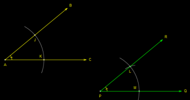 Constructing Angles of Unknown Measure - step 6