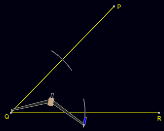 Angle Bisector Construction: Step 1