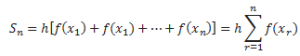 Definite Integral sum formula
