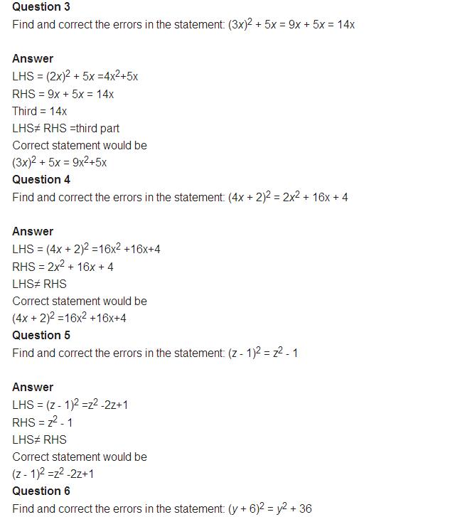 important questions class 8 maths chapter 14 factorization 3