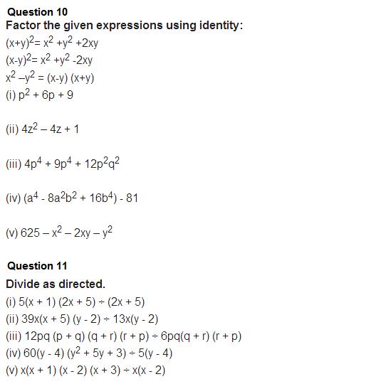 important questions class 8 maths chapter 14 factorization 7