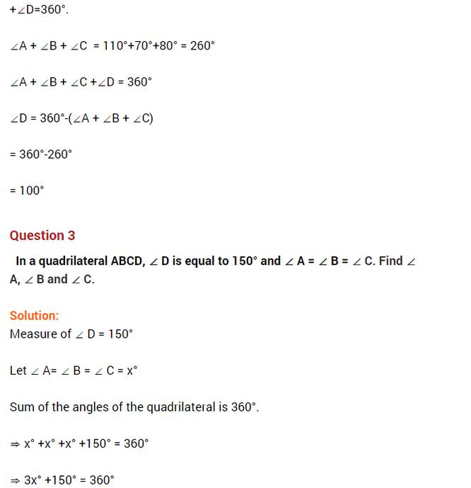 important questions class 8 maths chapter 3 understanding quadrilaterals 2