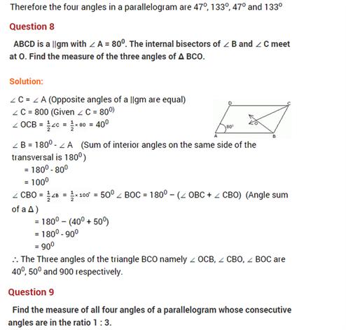 important questions class 8 maths chapter 3 understanding quadrilaterals 7