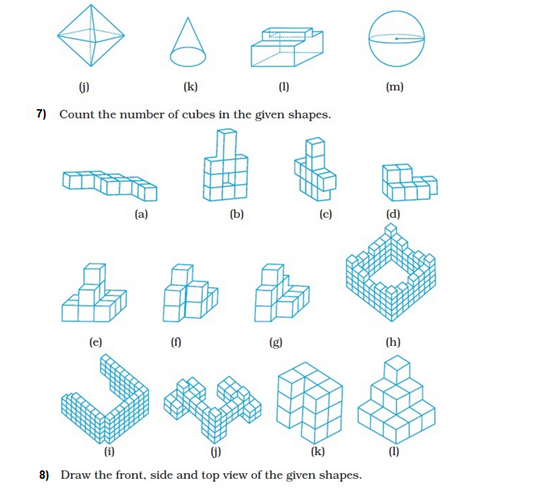 important questions class 8 maths chapter 10 visualising solid shapes 3