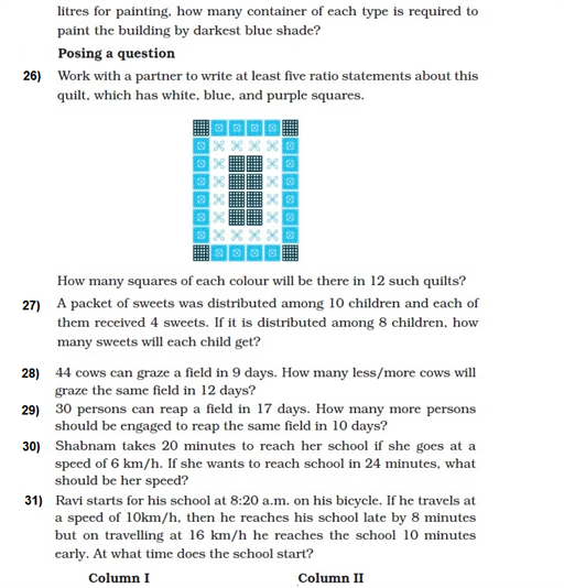 important questions class 8 maths chapter 13 direct inverse proportions 5