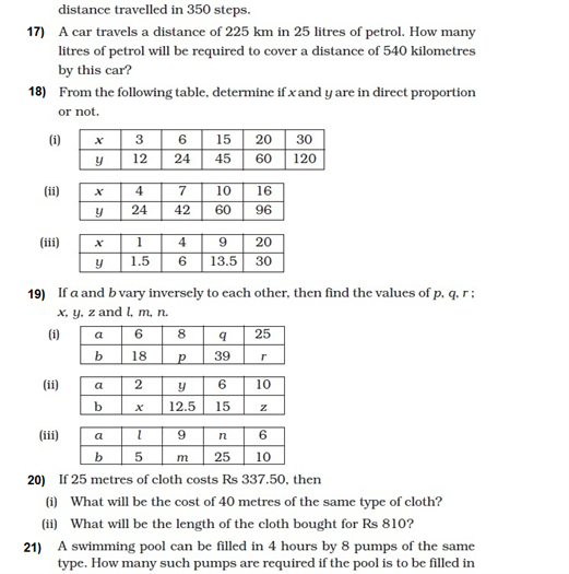 important questions class 8 maths chapter 13 direct inverse proportions 3