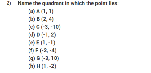 Important questions for class 9 maths Chapter 3 Coordinate Geometry