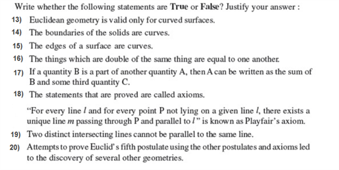 important questions class 9 maths chapter 5 introduction euclids geometry 4