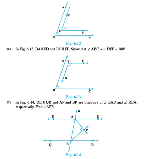 Important questions for class 9 maths Chapter 6 Lines and Angles