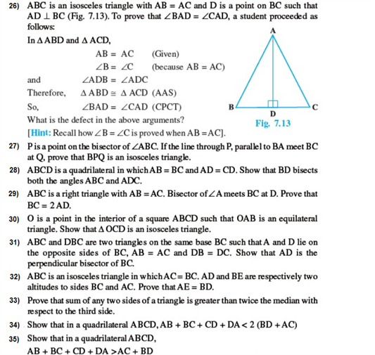 important questions class 9 maths chapter 7 triangles 4