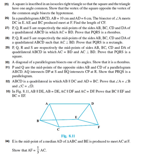 important questions class 9 maths chapter 8 quadrilaterals 5