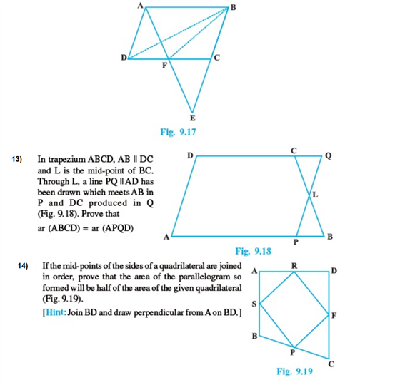 Important Questions Class 9 Maths Chapter 9 Areas Parallelograms Part 4