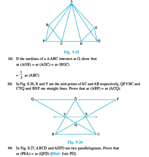 Important Questions Class 9 Maths Chapter 9 Areas Parallelograms Part 6