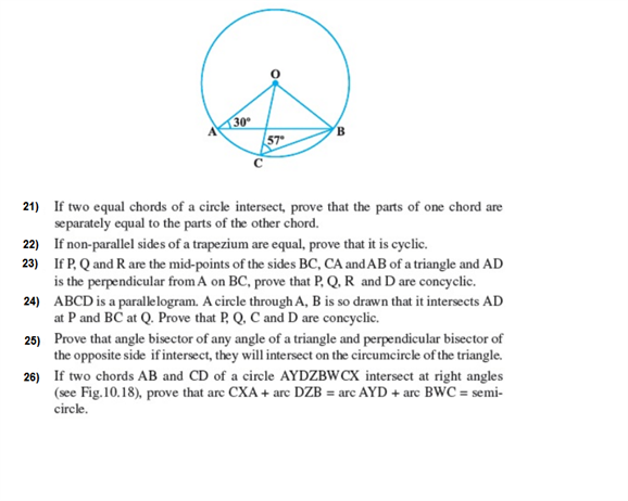 Important Questions Class 9 Maths Chapter 10 Circles Part 3