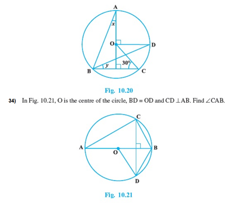 Important Questions Class 9 Maths Chapter 10 Circles Part 5