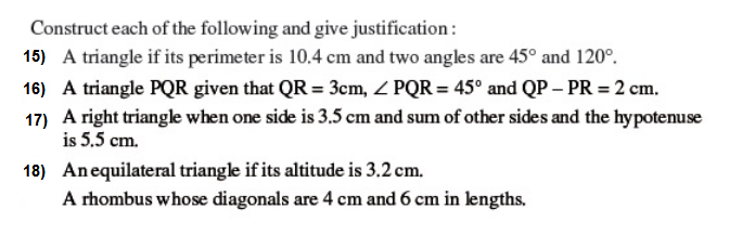 Important Questions Class 9 Maths Chapter 11 Constructions Part 3