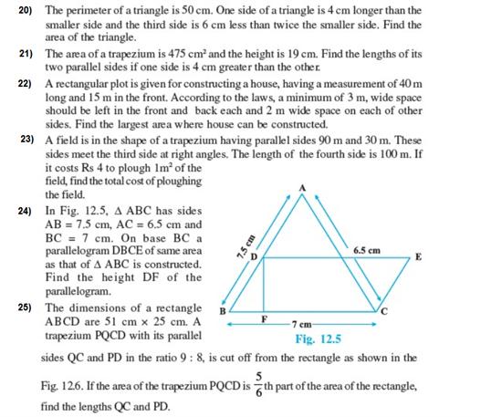 Important Questions Class 9 Maths Chapter 12 Herons Formula Part 4