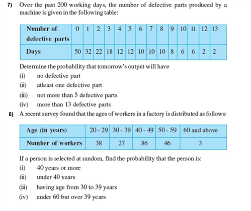 Important Questions Class 9 Maths Chapter 15 Probability Part 4