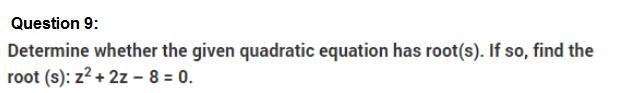 Important Questions Class 10 Maths Chapter 4 Quadratic Equations Part 9