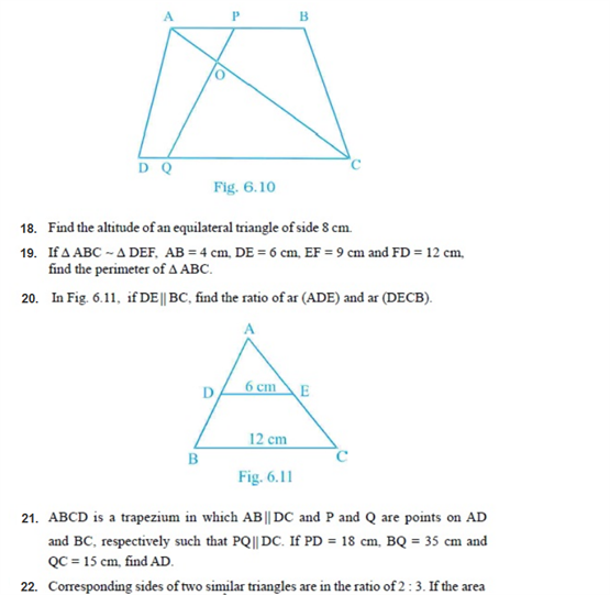 important questions class 10 maths chapter 6 triangles 12