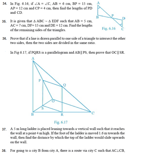 important questions class 10 maths chapter 6 triangles 6