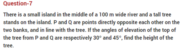 important questions class 10 maths chapter 9 applications trigonometry 7