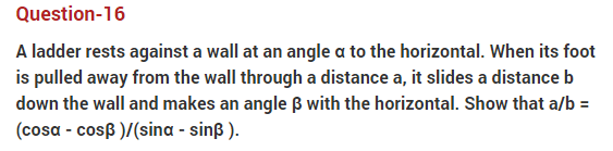 important questions class 10 maths chapter 9 applications trigonometry 16