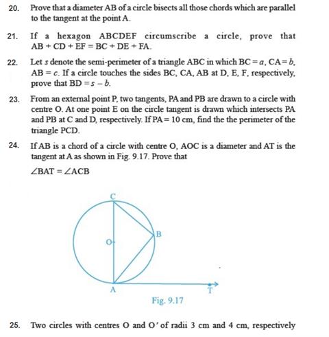 Important Questions Class 10 Maths Chapter 10 Circles Part 3