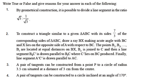 important questions class 10 maths chapter 11 constructions 1