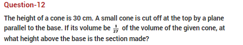 important questions class 10 maths chapter 13 surface areas volume 12