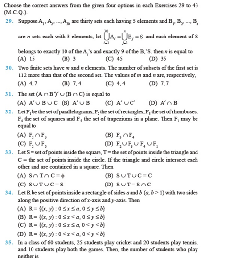 important questions class 11 maths chapter 1 sets 4