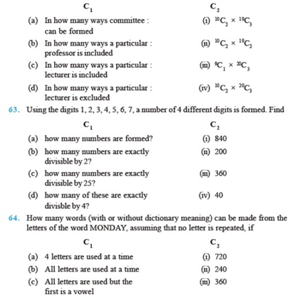 Important Questions Class 11 Maths Chapter 7 Permutations Combinations Part 8