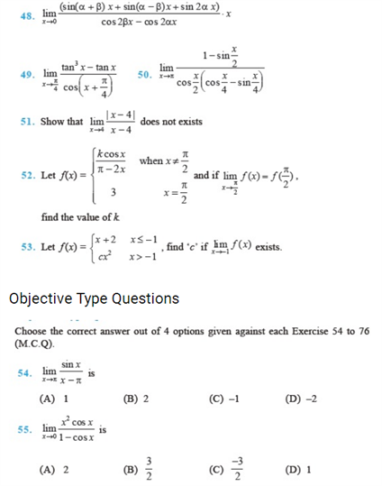 Important Questions Class 11 Maths Chapter 13 Limits Derivatives Part 3
