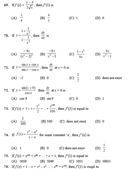 Important Questions Class 11 Maths Chapter 13 Limits Derivatives Part 6