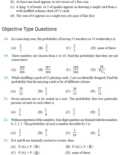 Important Questions Class 11 Maths Chapter 16 Probability Part 4