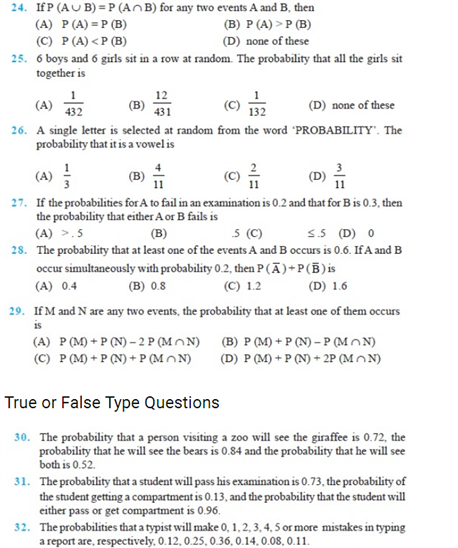 Important Questions Class 11 Maths Chapter 16 Probability Part 5