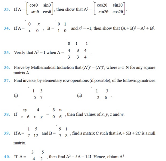 important questions class 12 maths chapter 3 matrices 7