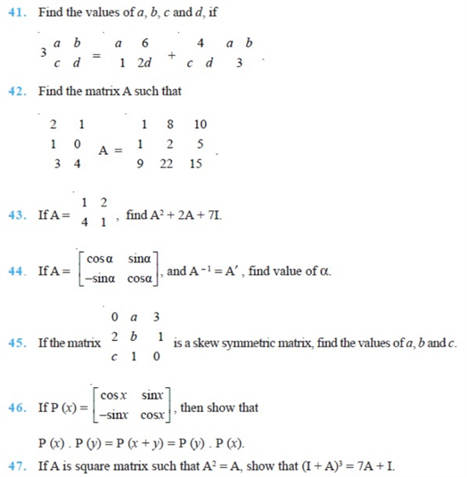 important questions class 12 maths chapter 3 matrices 8