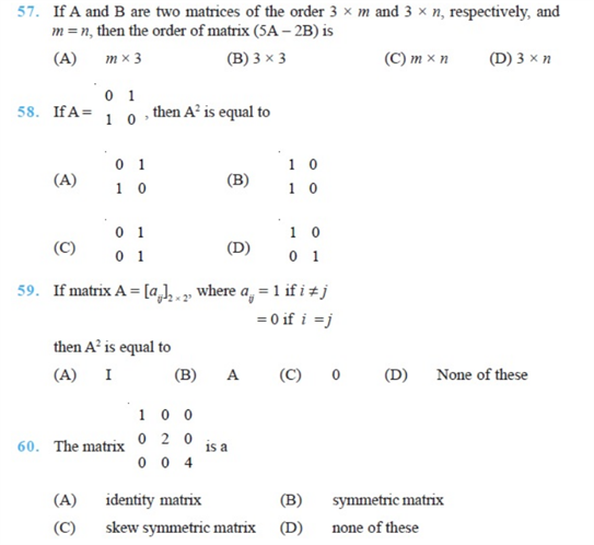 important questions class 12 maths chapter 3 matrices 11