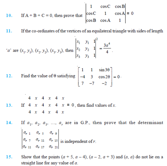 important questions class 12 maths chapter 4 determinants 2