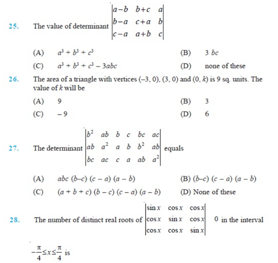 important questions class 12 maths chapter 4 determinants 5