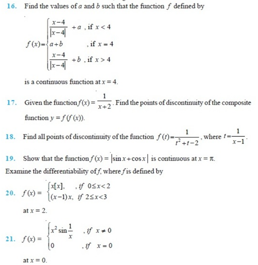important questions class 12 maths chapter 5 continuity differentiability 3