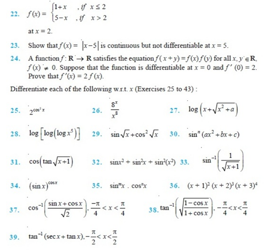 important questions class 12 maths chapter 5 continuity differentiability 4