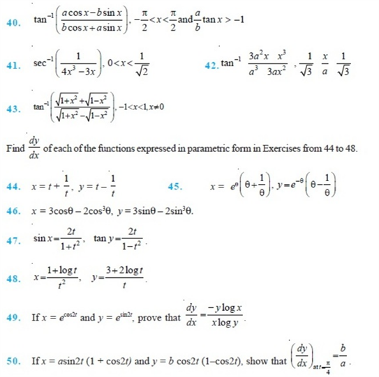important questions class 12 maths chapter 5 continuity differentiability 5