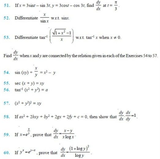important questions class 12 maths chapter 5 continuity differentiability 6