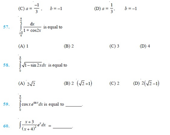 Important Questions Class 12 Maths Chapter 7 Integrals Part 8