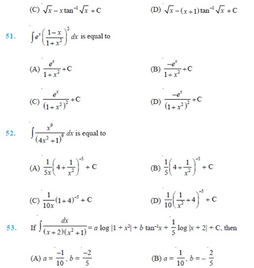 Important Questions Class 12 Maths Chapter 7 Integrals Part 6
