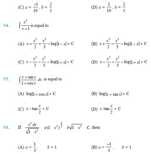 Important Questions Class 12 Maths Chapter 7 Integrals Part 7