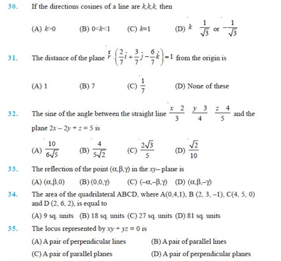 Important Questions Class 12 Maths Chapter 11 Three Dimensional Geometry Part 5