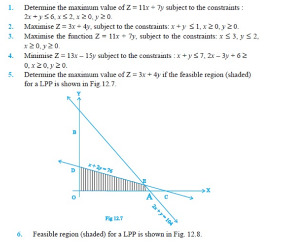 important questions class 12 maths chapter 12 linear programming 1